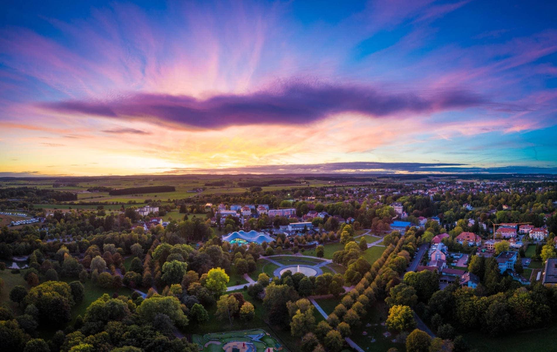 Landschaft von Bad Dürrheim zum Sonnenuntergang - Biohacking Bad Dürrheim